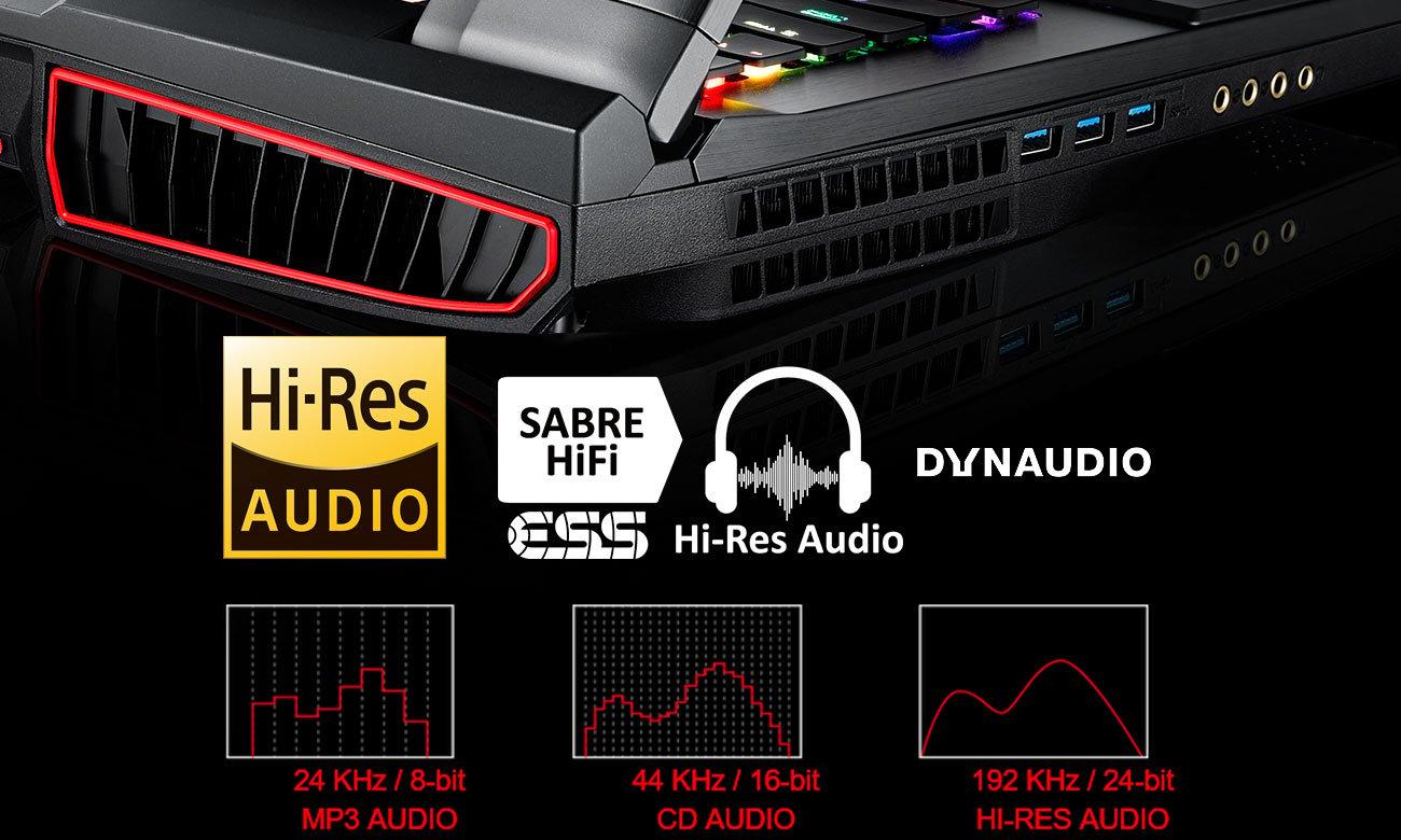 MSI Titan GT75VR 7RE ESS Sabre HiFi Audio DAC, DYNAUDIO 2.1