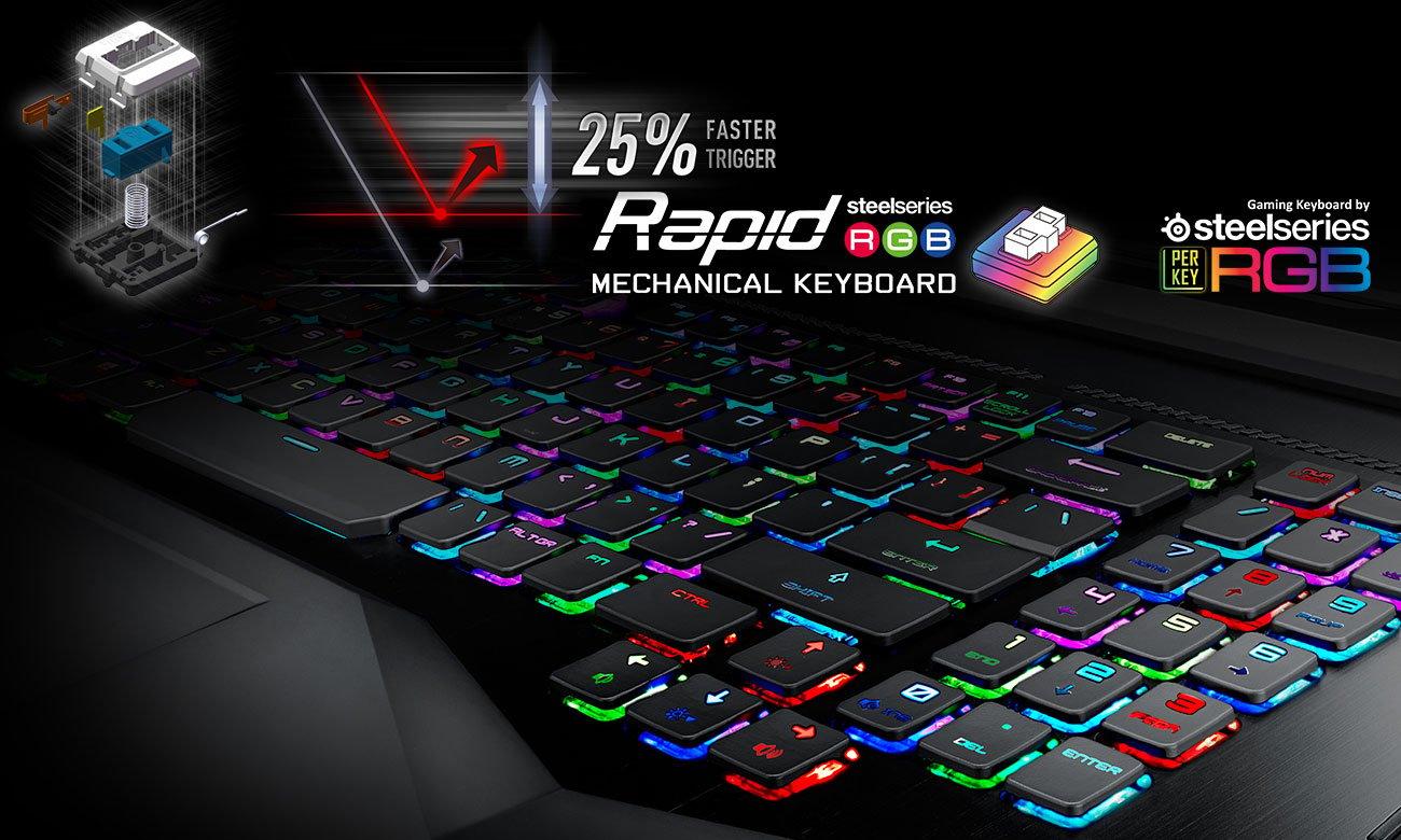 MSI Titan GT75VR 7RE klawiatura mechaniczna Z podświetleniem RGB SteelSeries