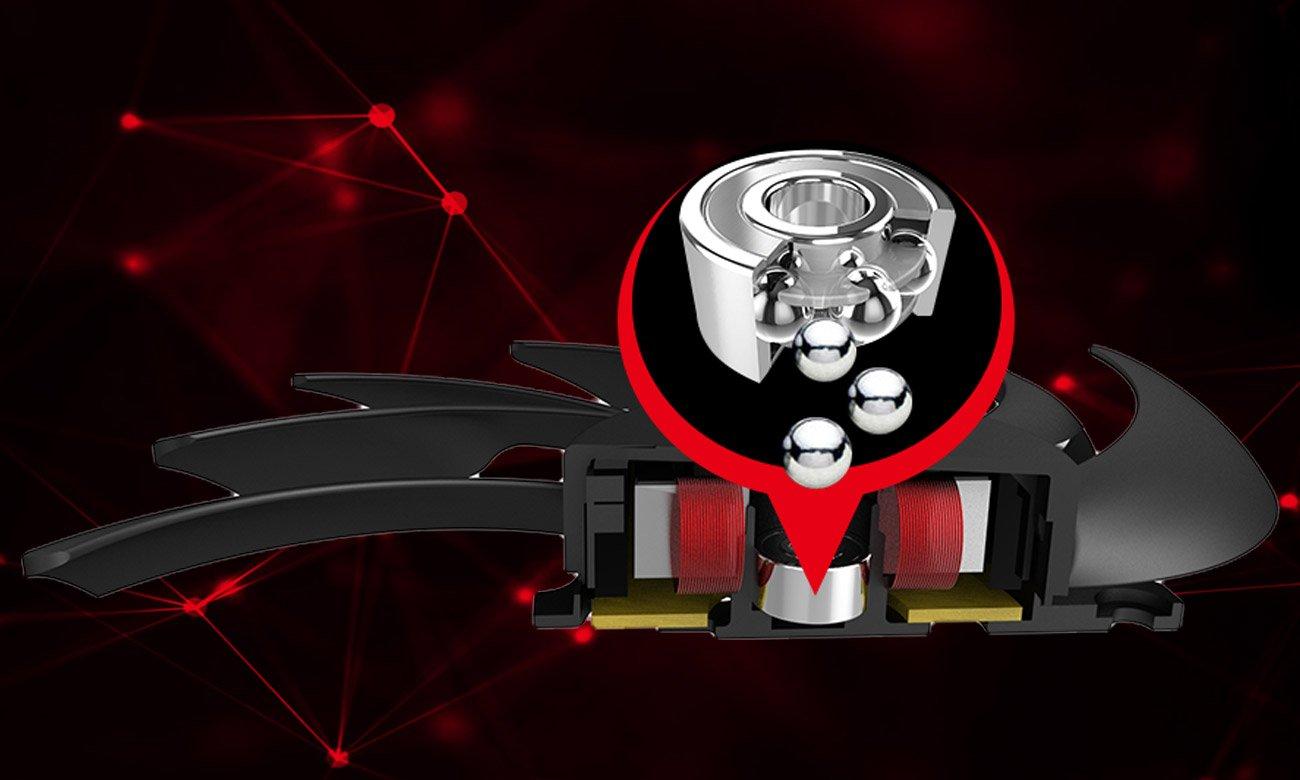 MSI GeForce GTX 1080 Ti GAMING X 11GB GDDR5X Dwurzędowe łożyska kulkowe