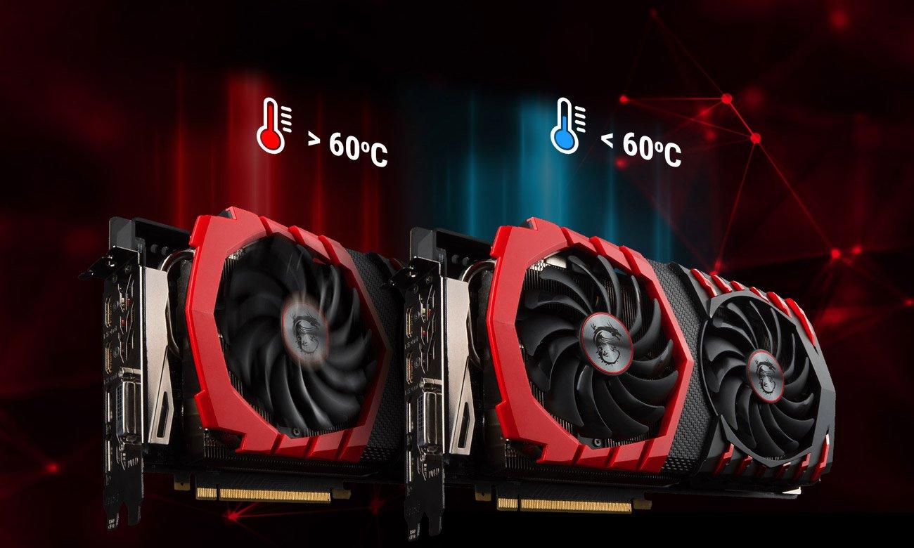 MSI GeForce GTX 1080 Ti GAMING X 11GB GDDR5X Technologia Zero Frozr