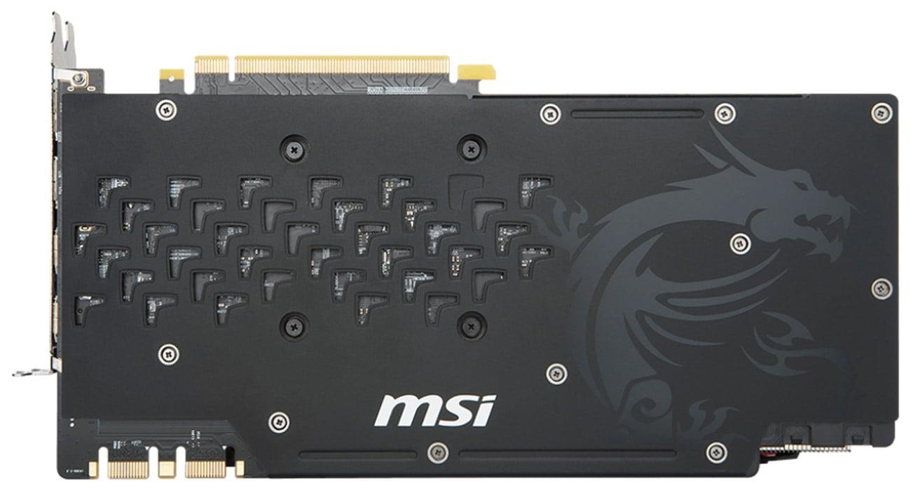 MSI GeForce GTX 1080 Ti GAMING X 11GB GDDR5X Ramka systemu chodzenia, Dodatkowe złącze zasilające