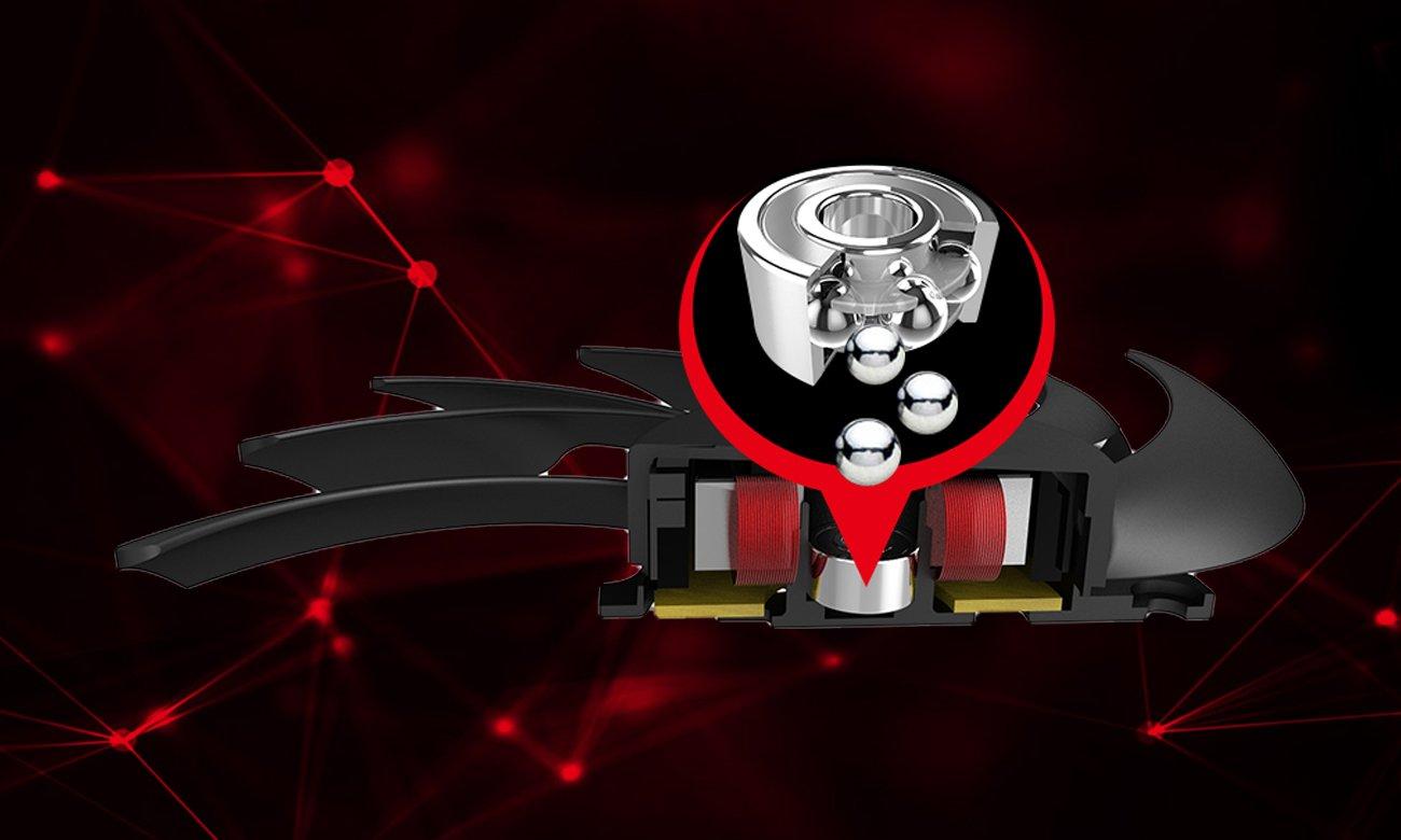 MSI GeForce GTX 1080 GAMING X+ 8GB Dwurzędowe łożyska kulkowe