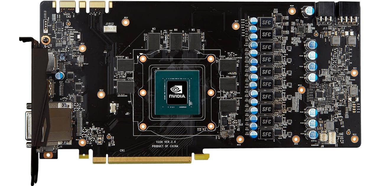 MSI GeForce GTX 1080 GAMING X+ 8GB 6-pinowezłącze zasilające