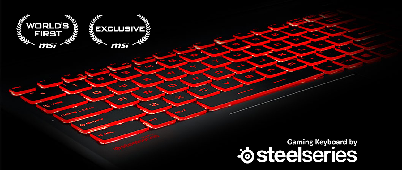 GV62 7RC MSI SteelSeries клавиатура, Silver Lining печати