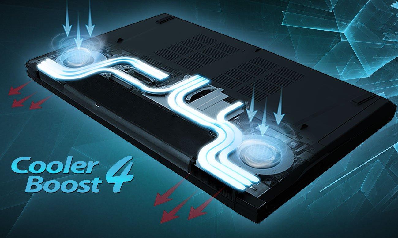 MSI GV62 7RE chłodzenie Cooler Boost 4