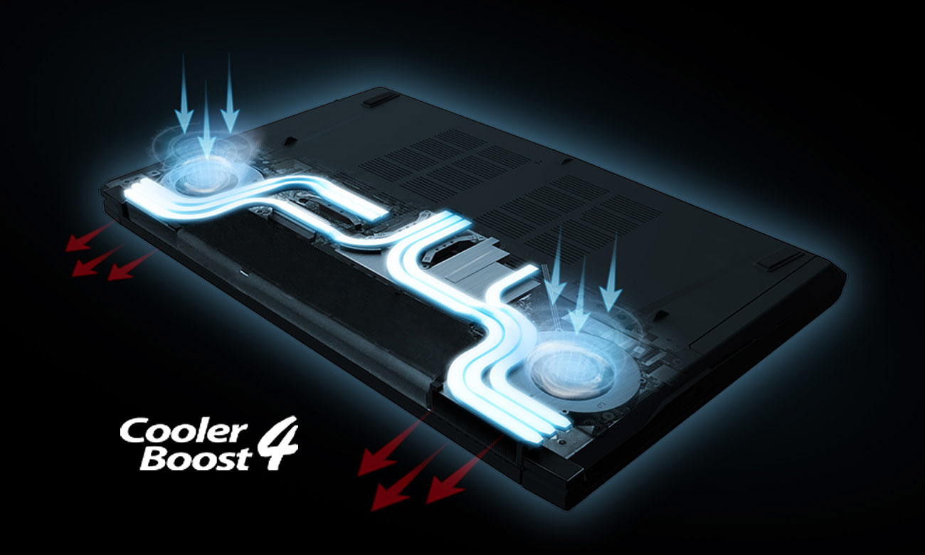 MSI GV62 7RE Охолодження Cooler Boost 4
