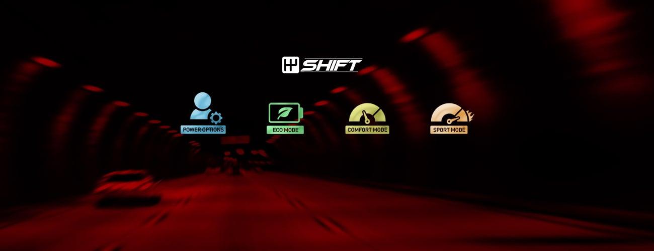 MSI GV62 7RE wydajność MSI SHIFT