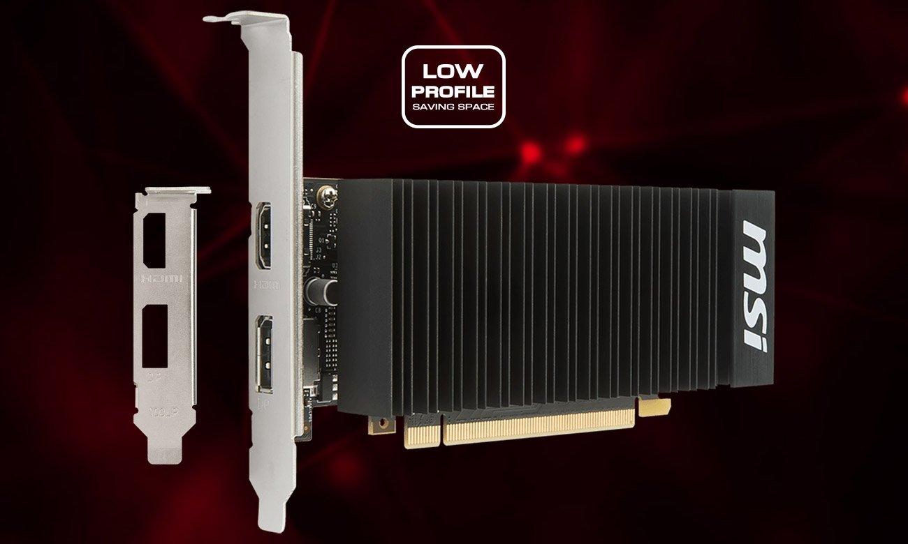 MSI GeForce GT 1030 LP OC 2GH niskoprofilowa konstrukcja