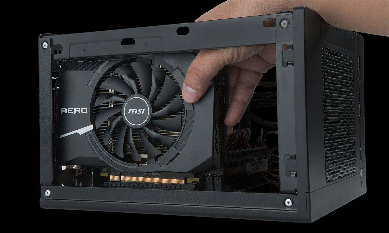 MSI GeForce GT 1030 AERO OC ITX 2G Kompaktowe wymiary