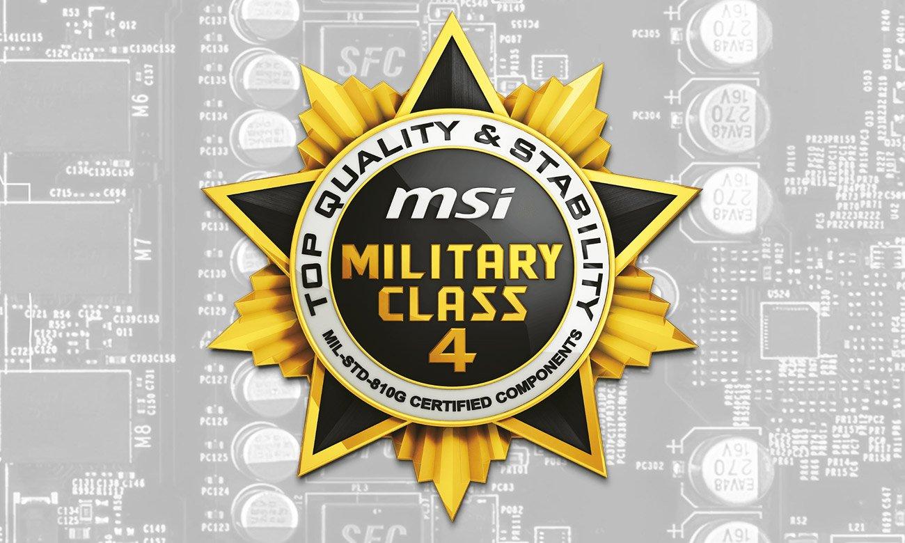 MSI GeForce GT 1030 AERO OC ITX 2G Komponenty 4. klasy militarnej