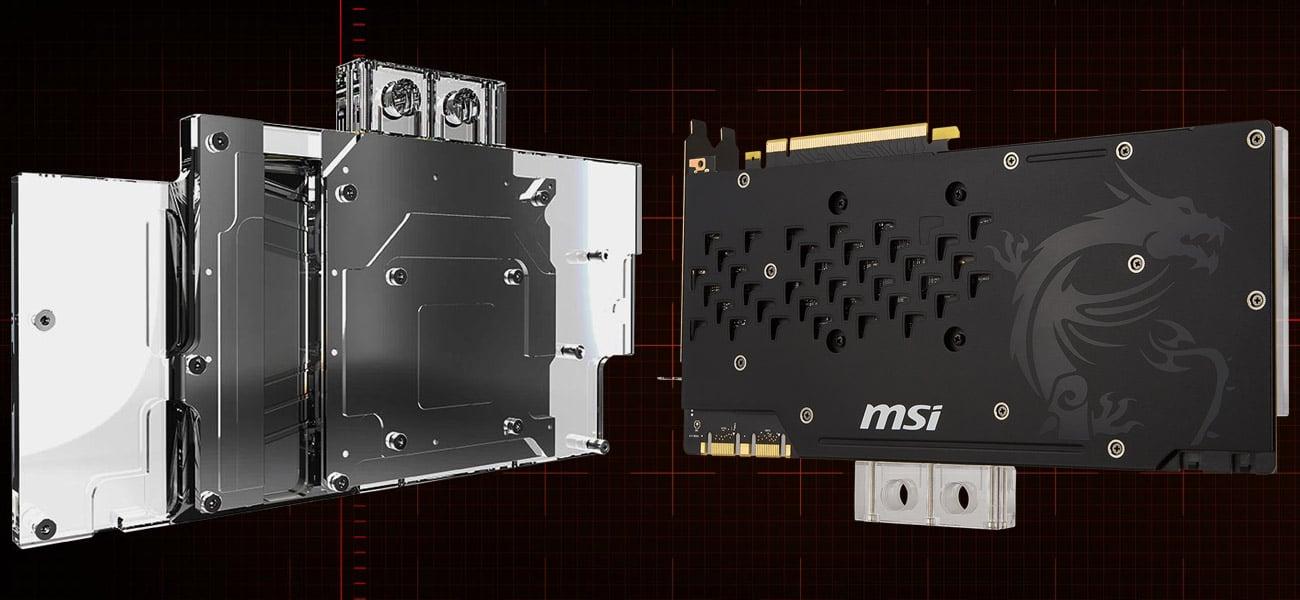 MSI GeForce GTX 1080 Ti SEA HAWK EK X Niklowana płytka bazowa