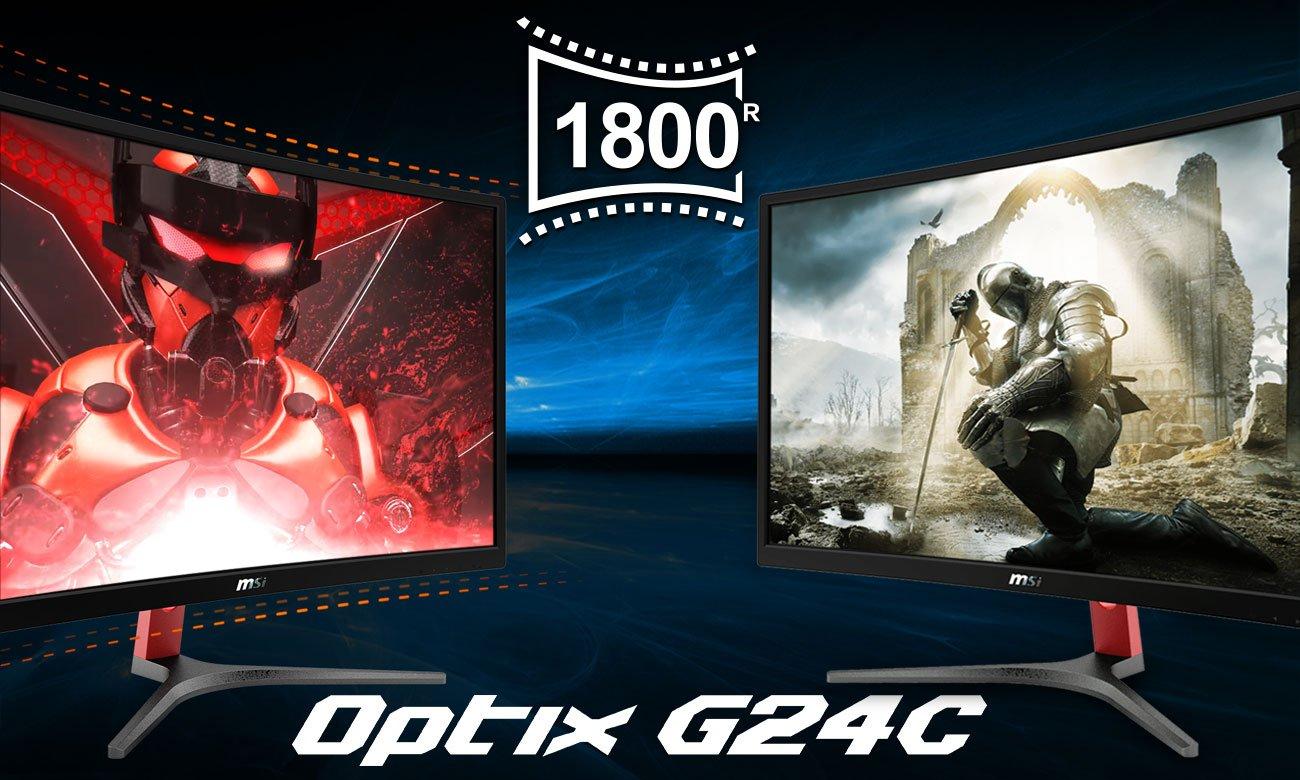 MSI Optix G24C Monitor dla graczy z zakrzywionym ekranem