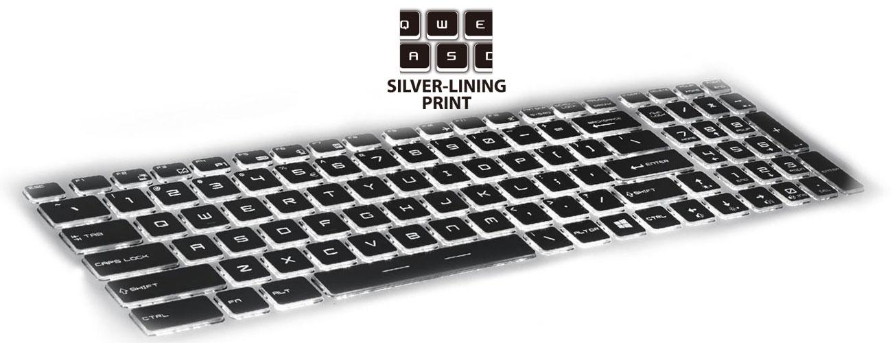 MSI PE60 6QD Steelseries, Silver Lining Print