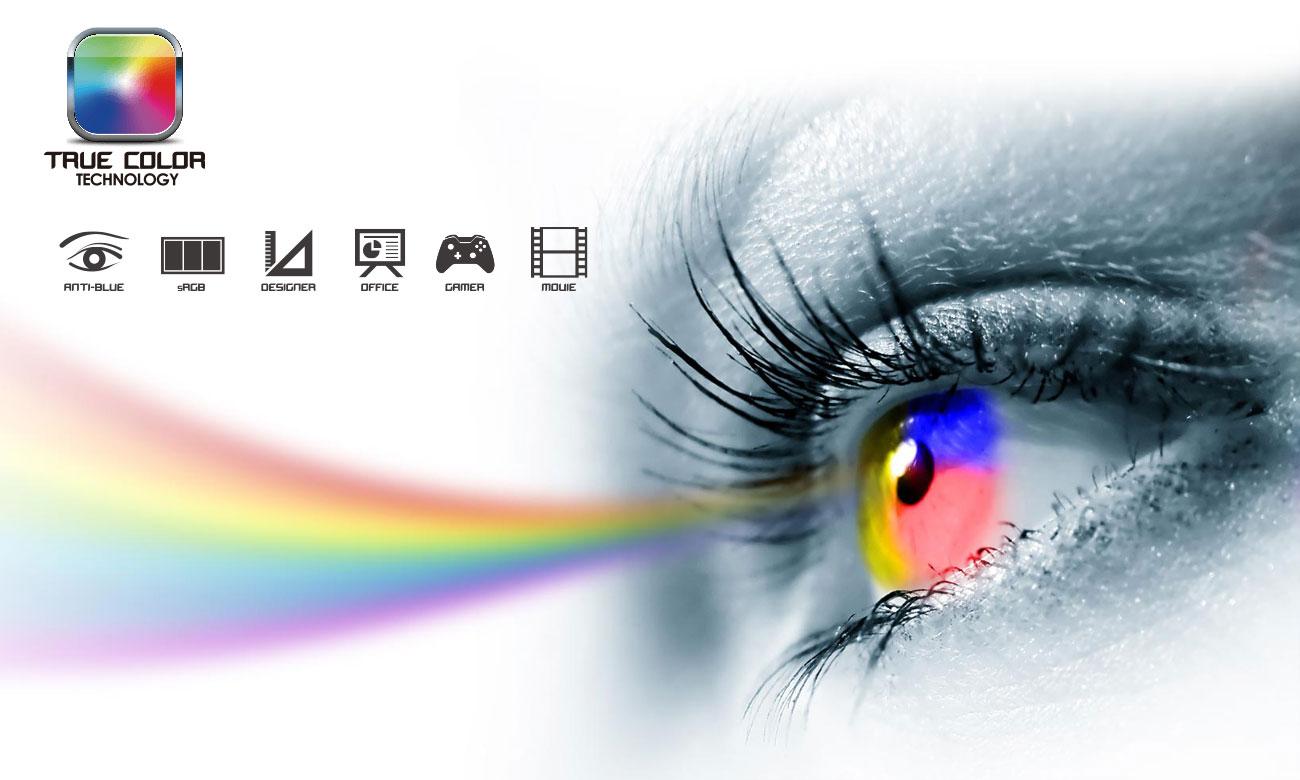 MSI PE60 6QE true color