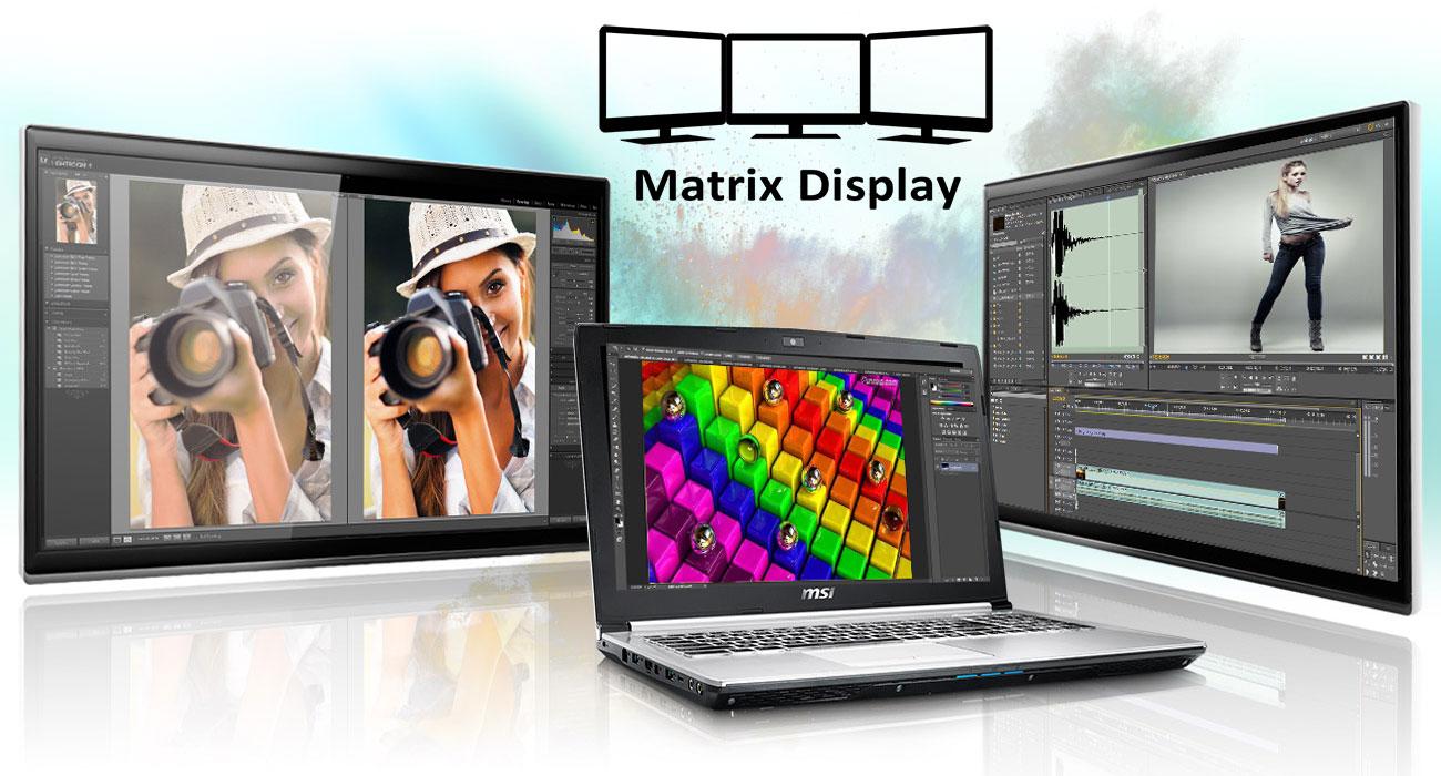 MSI PE60 6QE matrix display