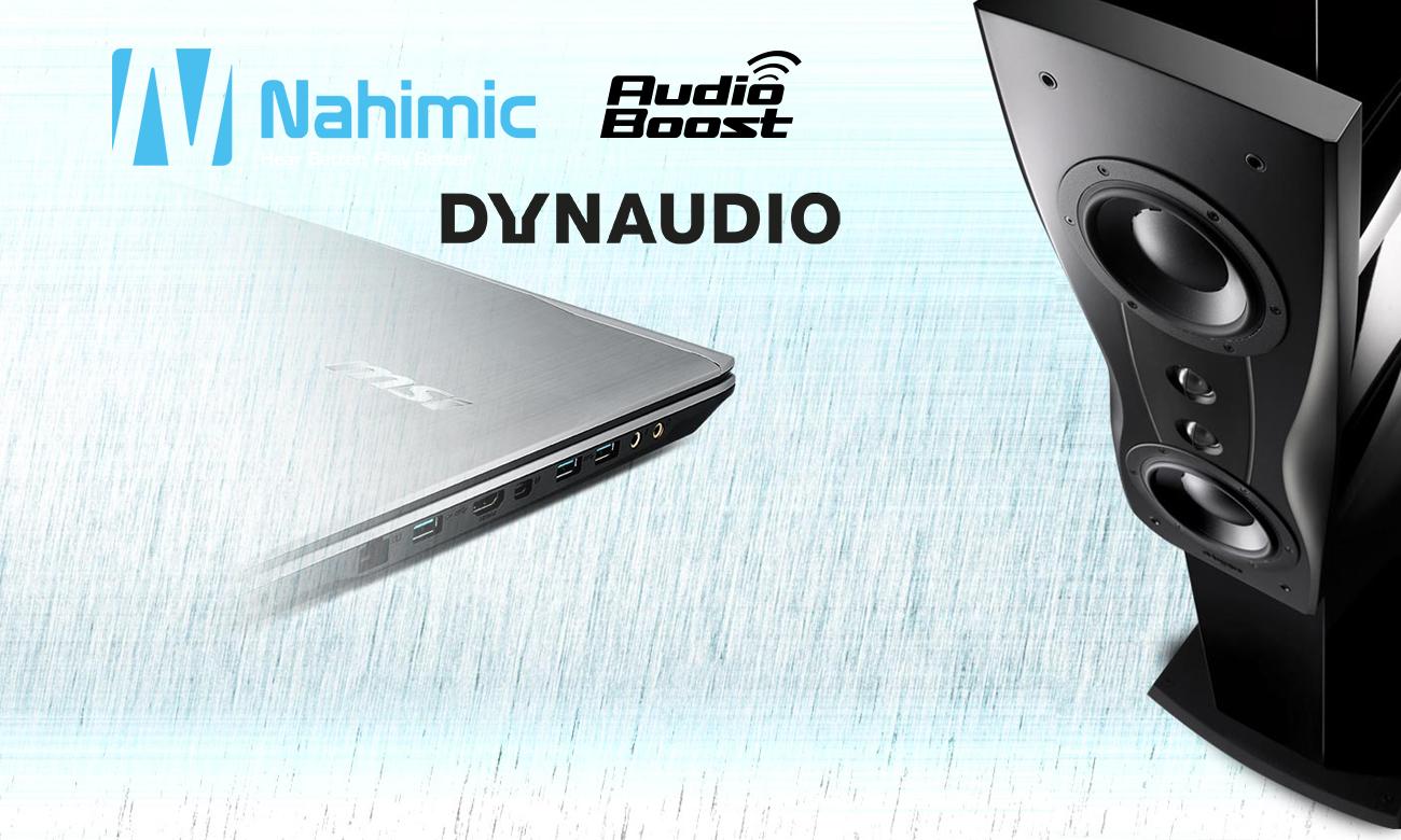 MSI PE60 7RD nahimic, audio boost, dynaudio