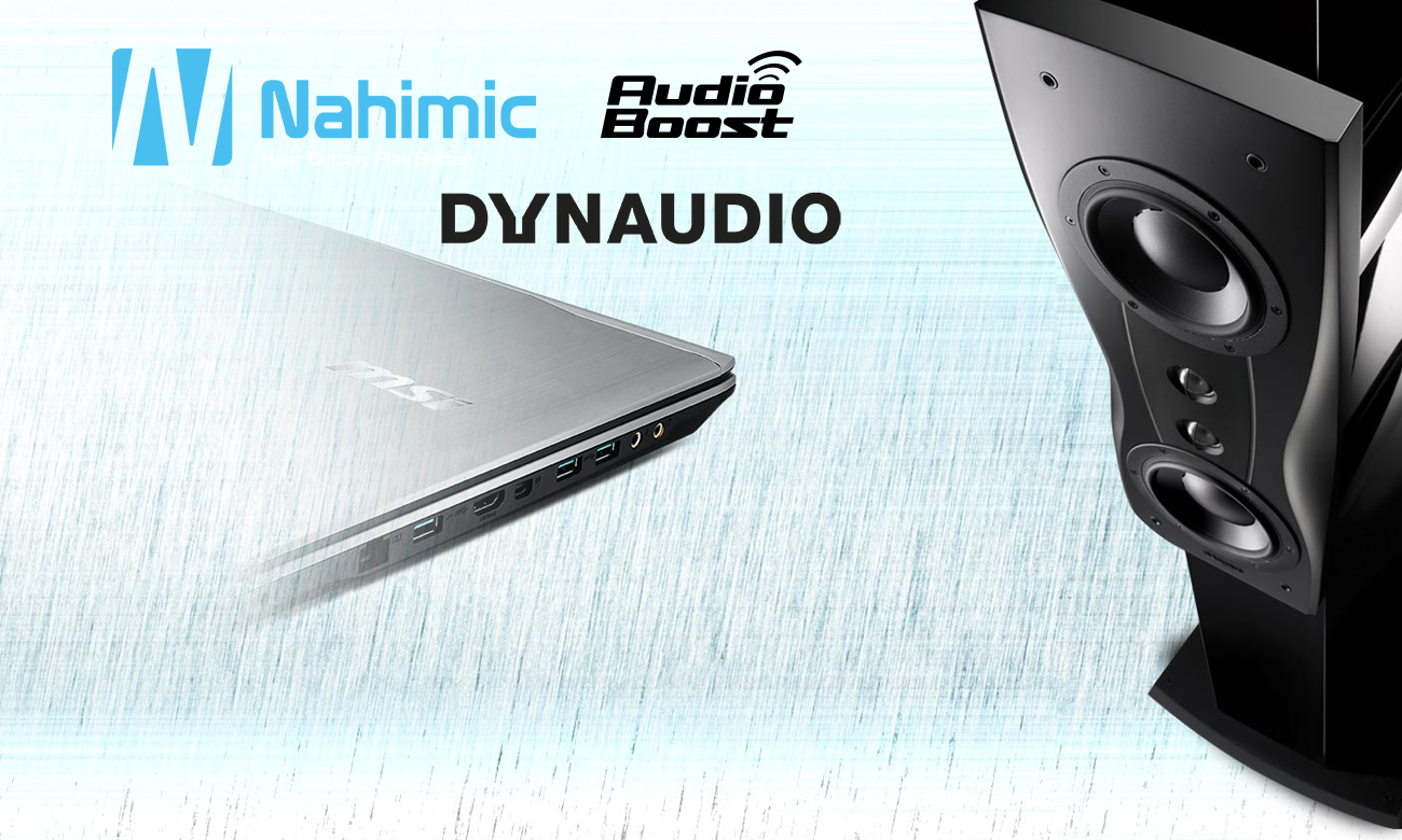 MSI PE62 7RD nahimic, dynaudio, audio boost