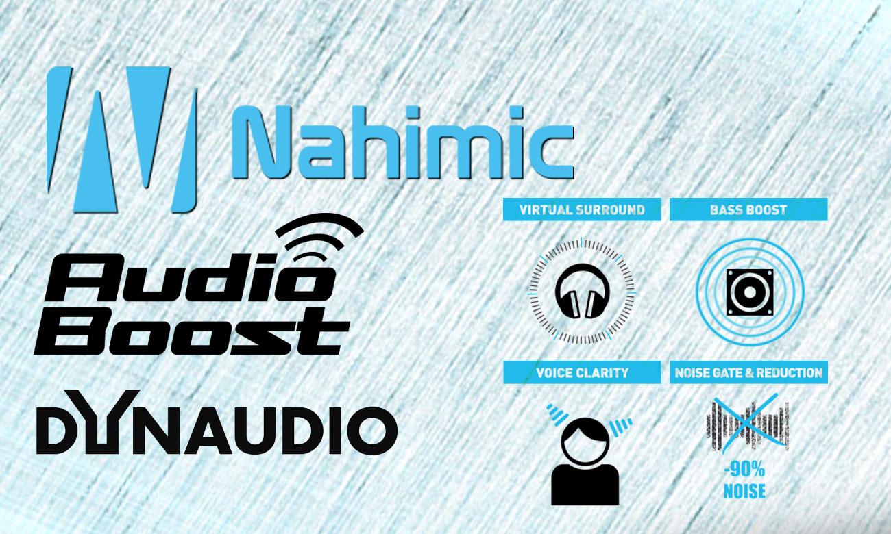 MSI PE72 7RD dynaudio, audio boost