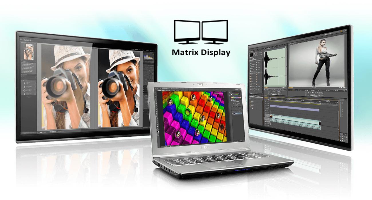 MSI PE72 7RD Matrix Display