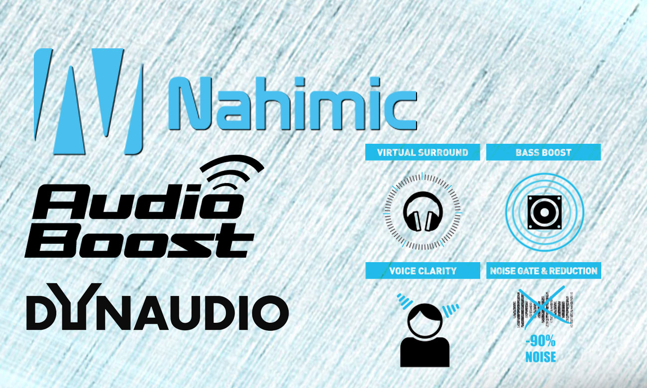 Чернила PL60 7RD nahimic, Audio Boost, Dynodio