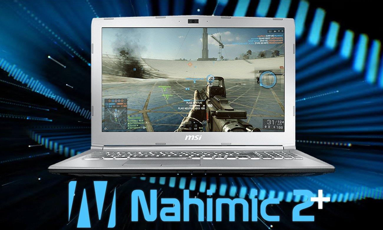MSI PL62 7RC uwydatnianie dźwięku Nahimic 2+