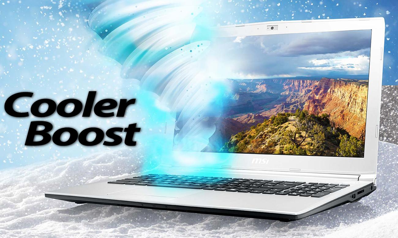MSI PL62 7RC chłodzenie Cooler Boost