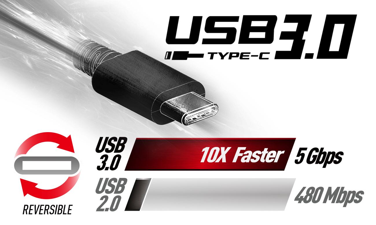 MSI PL62 7RC Interfejs USB Typu-C