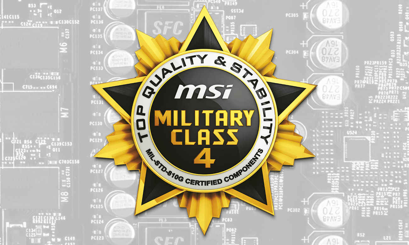 MSI Radeon RX 560 AERO ITX OC Komponenty 4. klasy militarnej