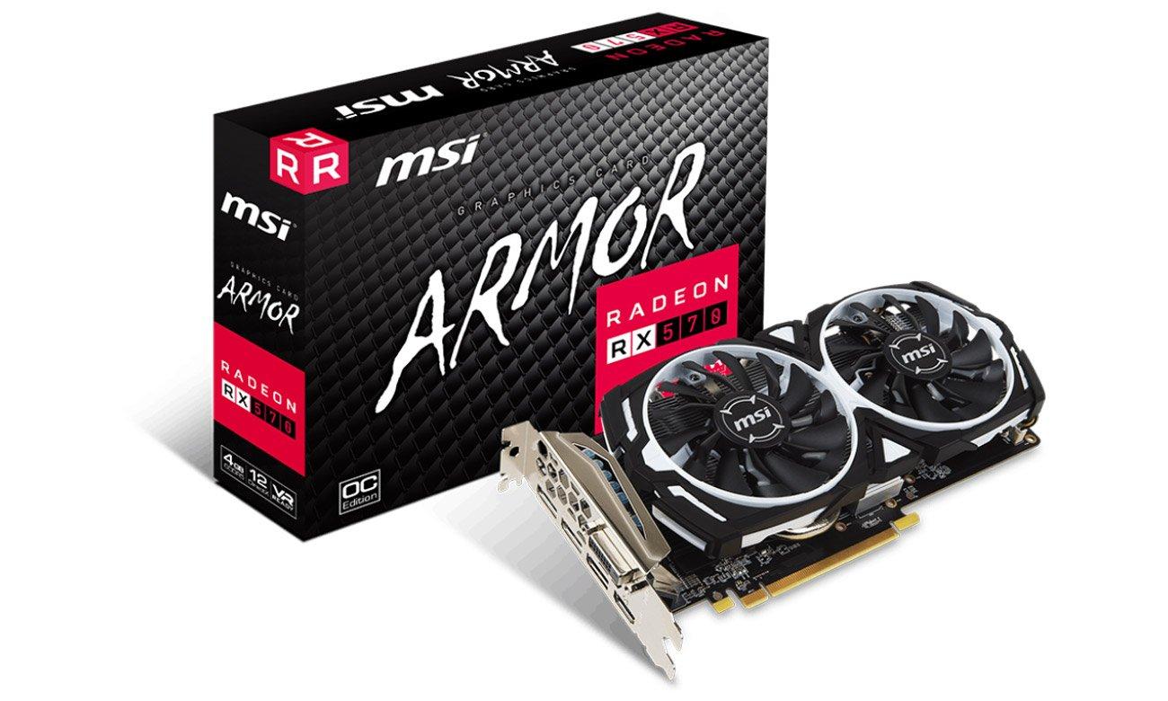 MSI Radeon RX 570 ARMOR OC 4GB GDDR5