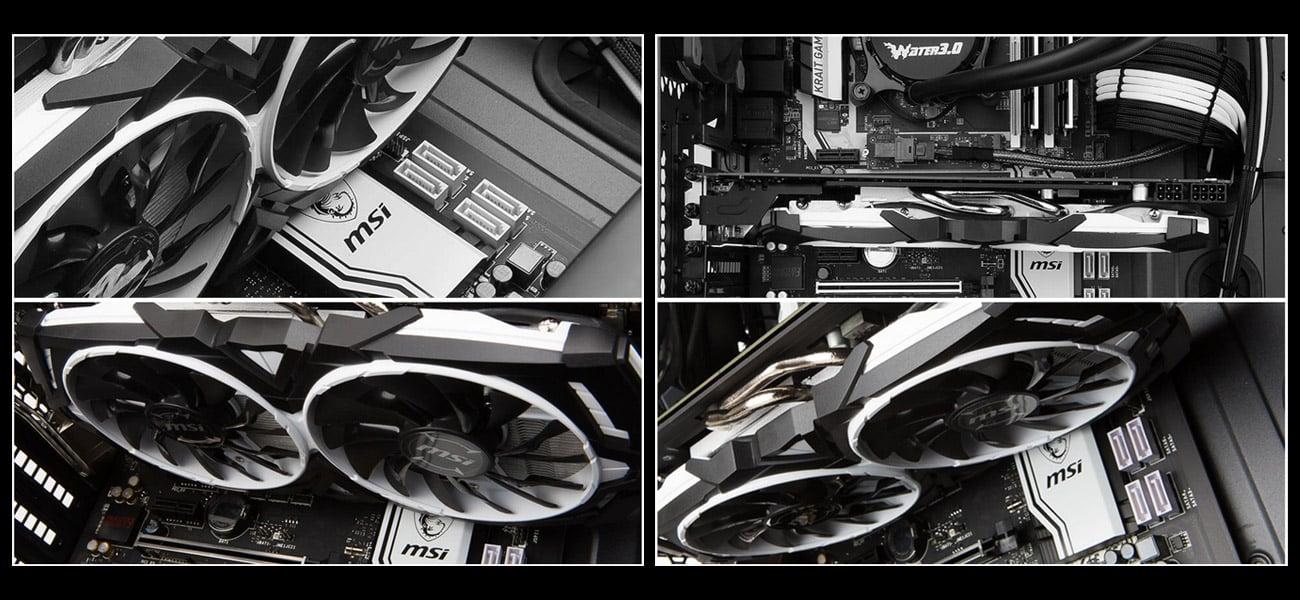 MSI Radeon RX 570 ARMOR OC 4GB GDDR5 Eleganckie, klasyczne czarno-białe wzornictwo