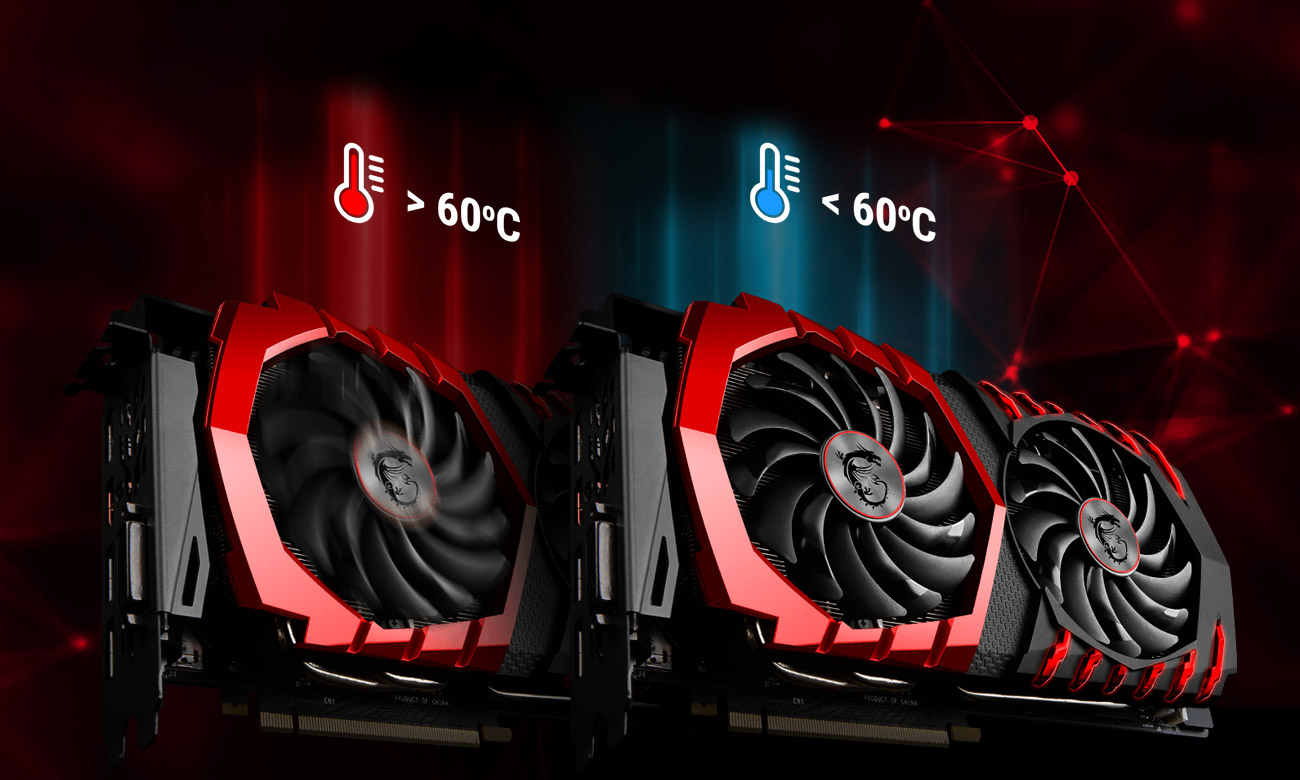 MSI Radeon RX 570 GAMING X 4GB GDDR5 Technologia Zero Frozr