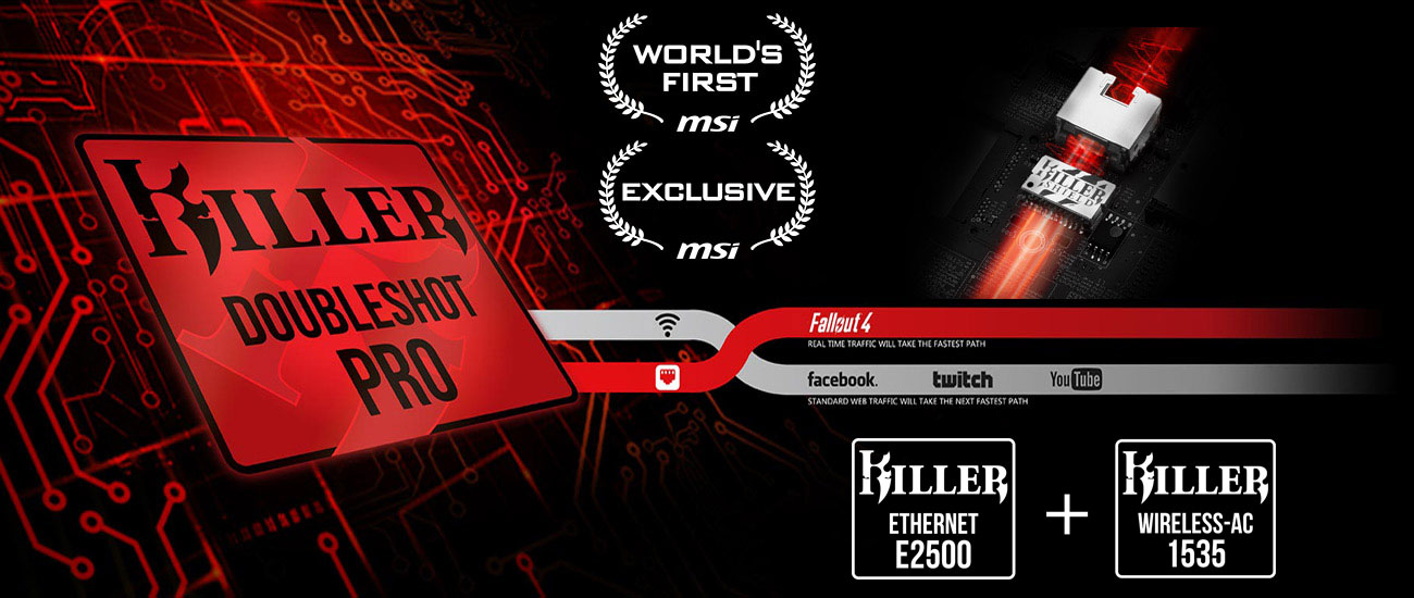 MSi GE63VR Raider Killer DoubleShot Pro z technologią Killer Shield