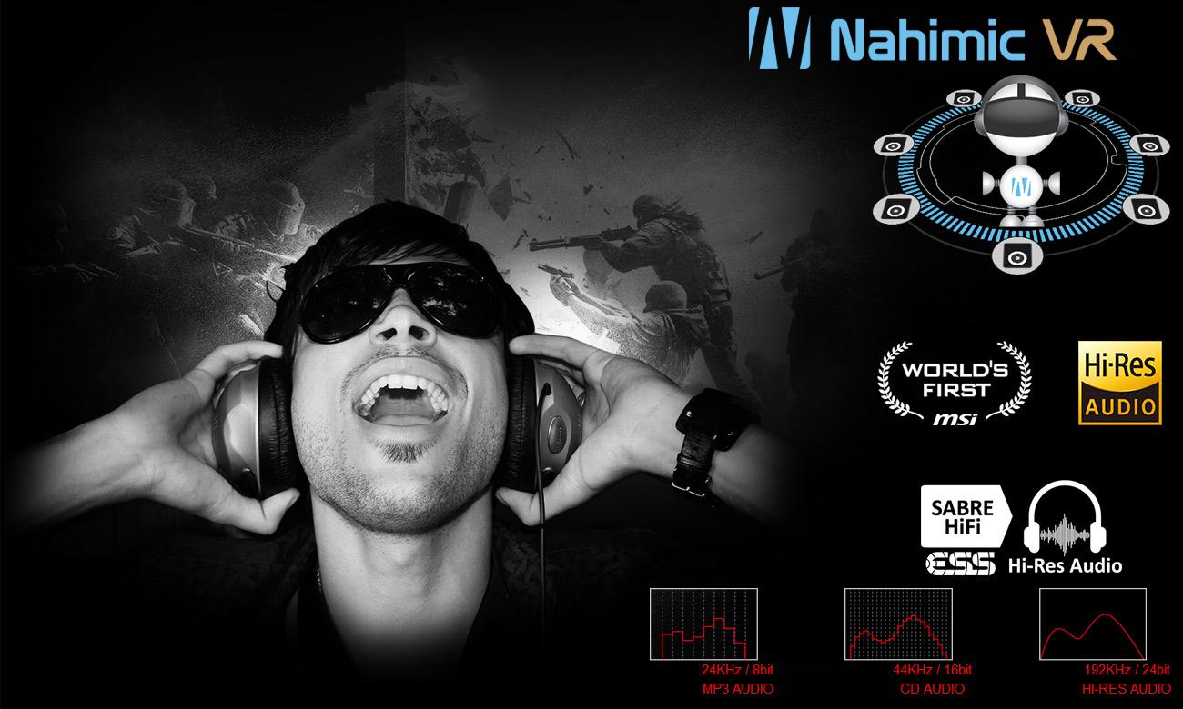 MSi GE63VR Raider Nahimic VR, ESS Sabre HiFi DAC