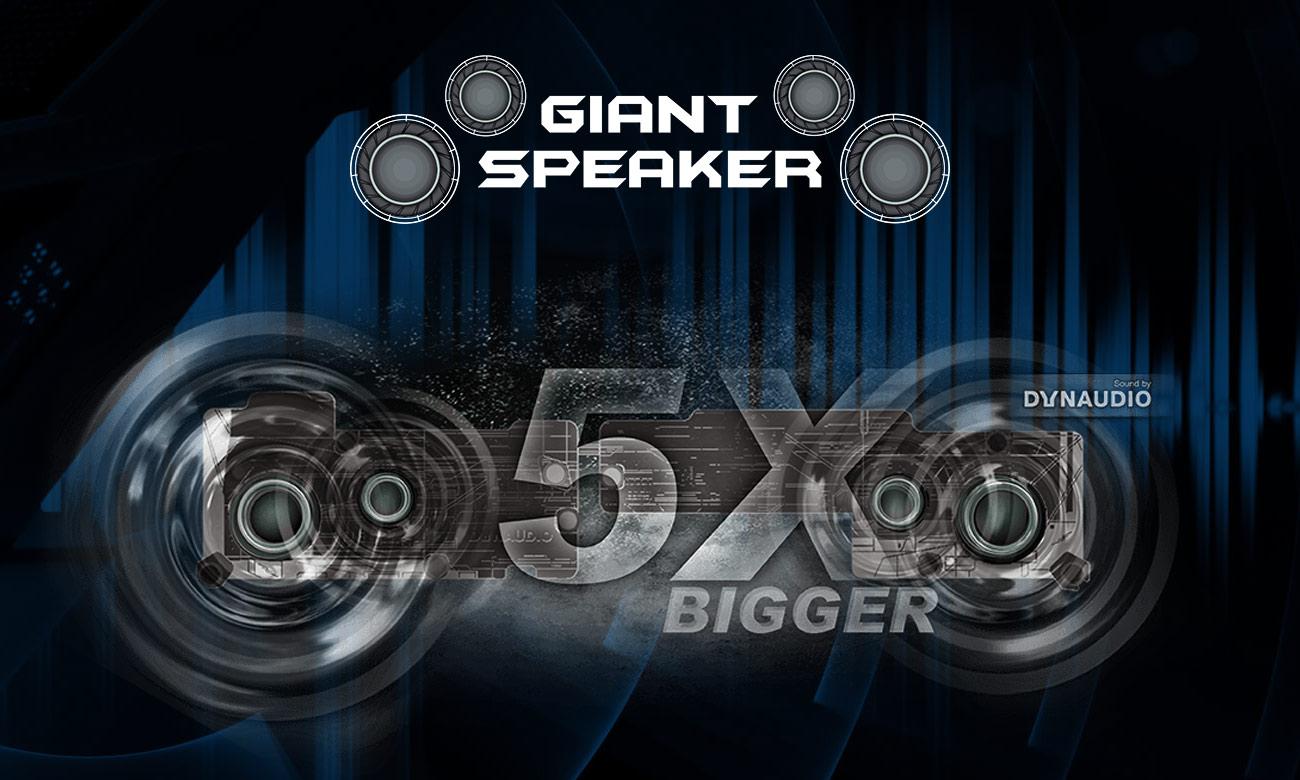 MSi GE63VR Raider 5 razy większe głośniki Dynaudio
