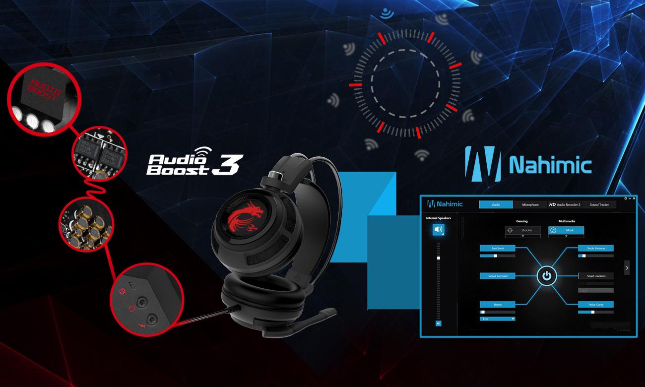 MSI Trident 3 Audio Boost 3 oraz Nahimi