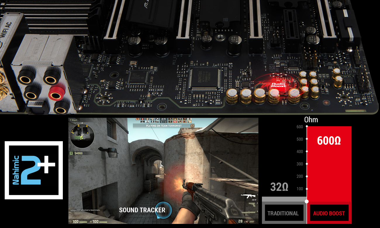 MSI X299 XPOWER GAMING AC System Audio Boost 4 z technologią Nahimic