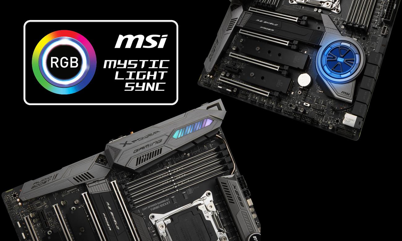 MSI X299 XPOWER GAMING AC Podświetlenie Mystic Light