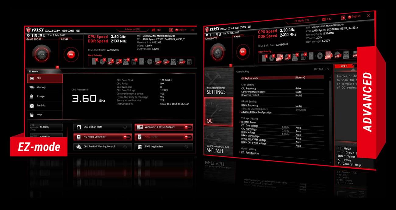 MSI X370 GAMING PLUS BIOS dla graczy