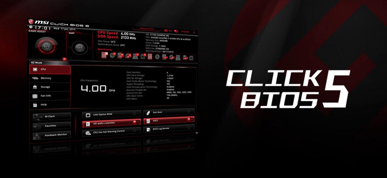 MSI Z170A KRAIT GAMING click BIOS 5