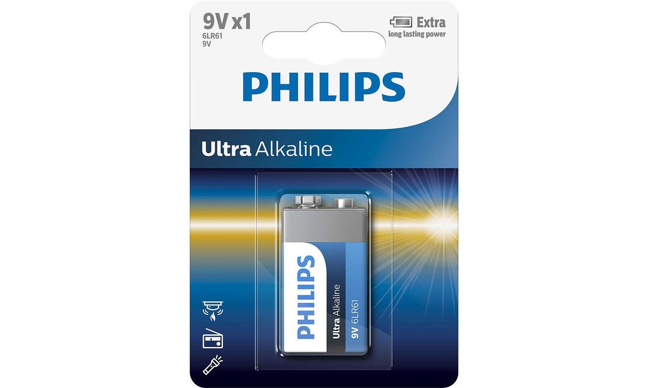 Bateria alkaliczna Philips Ultra Alkaline 6LR61