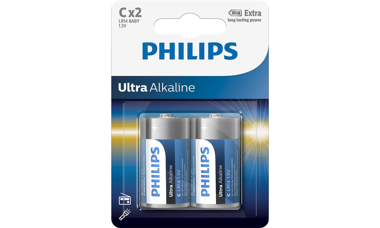 Baterie alkaliczne Philips Ultra Alkaline C 2 szt.