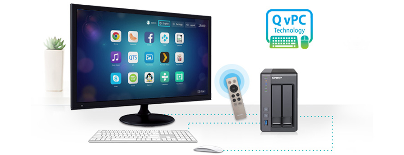 QNAP TS-251+ technologia QvPC