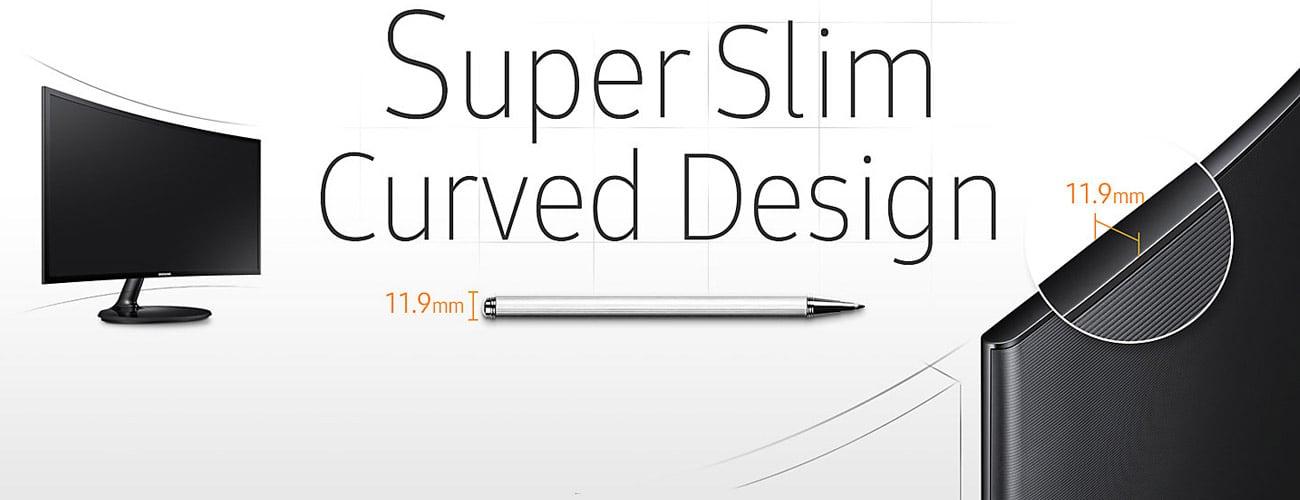 Samsung C27F390FHUX Curved Intrygujący design