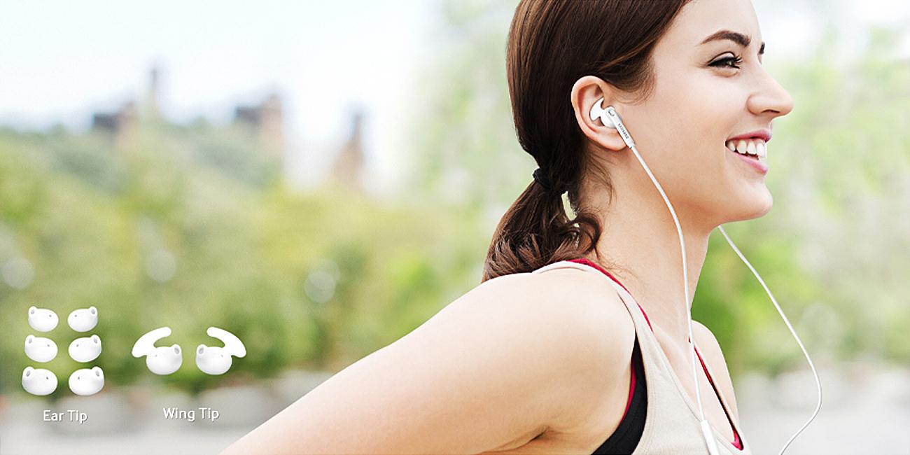 Samsung In-Ear Fit douszne Stabilizacja i mobilność