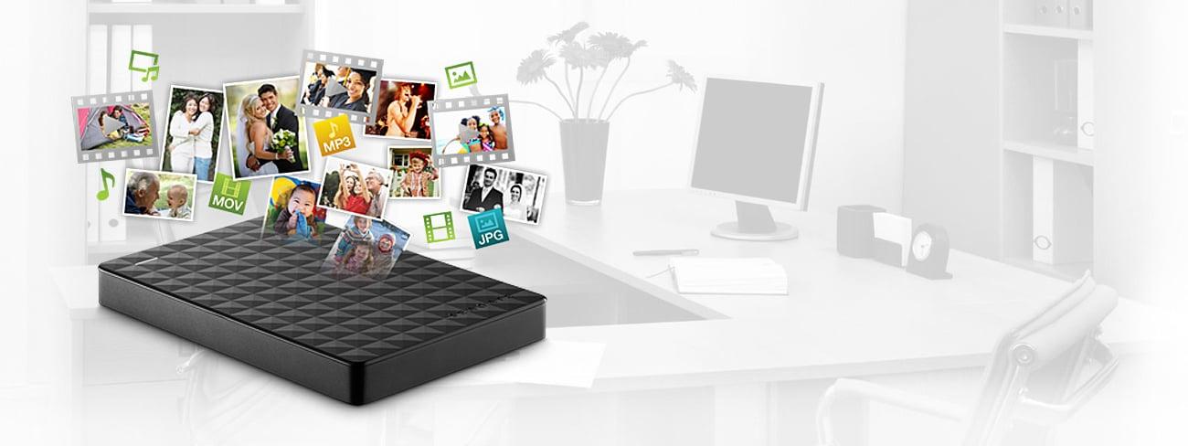Dysk twardy zewnętrzny Seagate 1TB Expansion Portable 2,5'' czarny USB 3.0