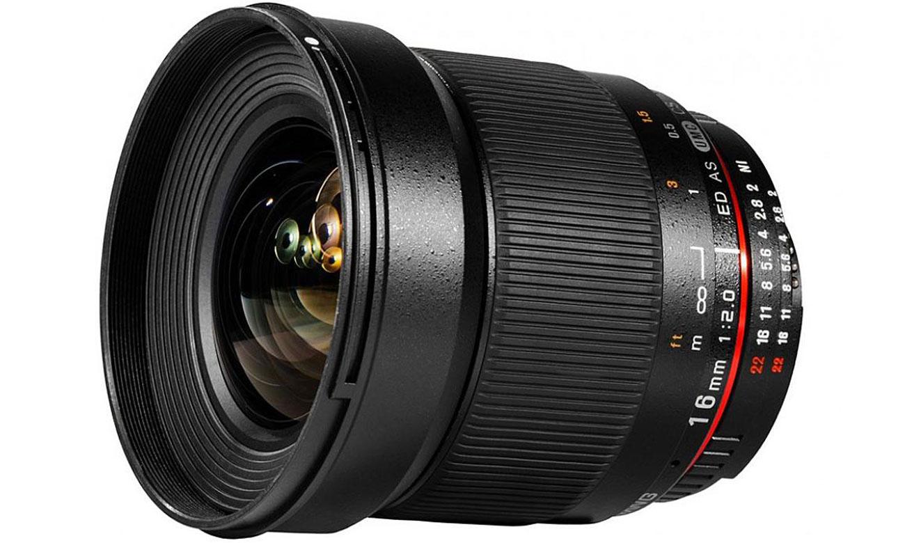 Obiektywy stałoogniskowy Samyang 16mm F2.0 ED AS UMC Canon szeroki kąt widzenia