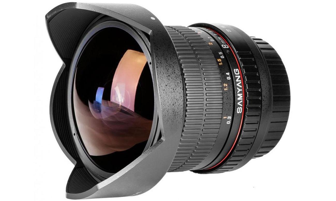 Obiektywy stałoogniskowy Samyang 8mm F3,5 FISH EYE CS II Canon szeroki kąt widzenia