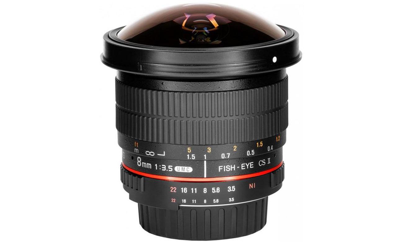 Obiektywy stałoogniskowy Samyang 8mm F3,5 FISH EYE CS II Canon solidność