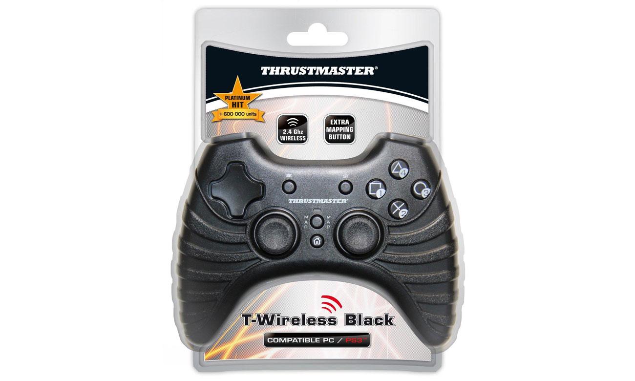 Thrustmaster T-Wireless Black - antyposlizgowe wykończenie