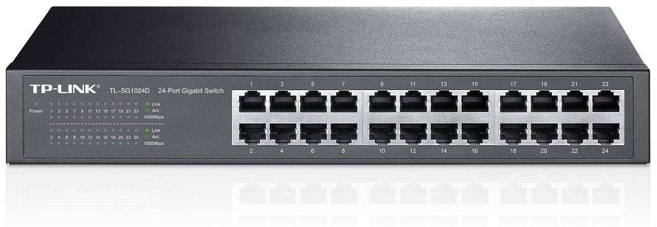 TP-Link 24p TL-SG1024D Rack 13 duża przepustowość sieci